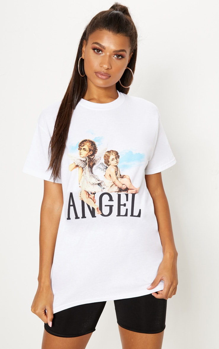 White Cherub T Shirt 1