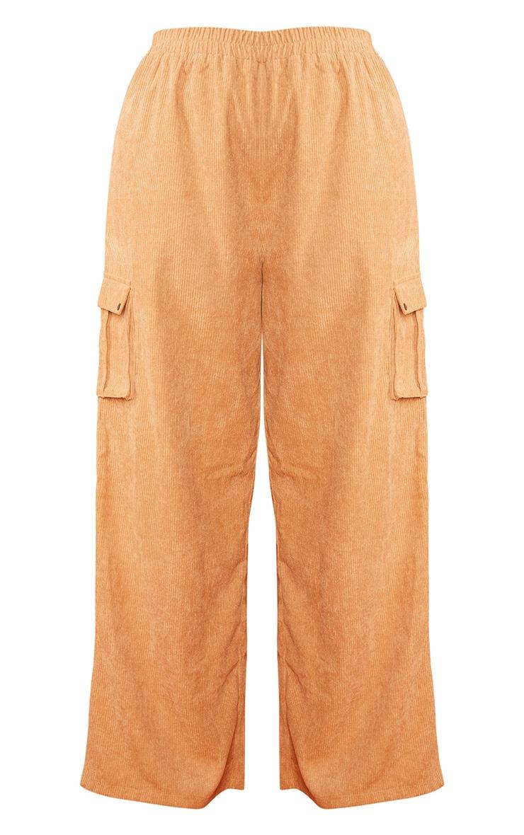 Plus Sand Cord Cargo Wide Leg Pants 6