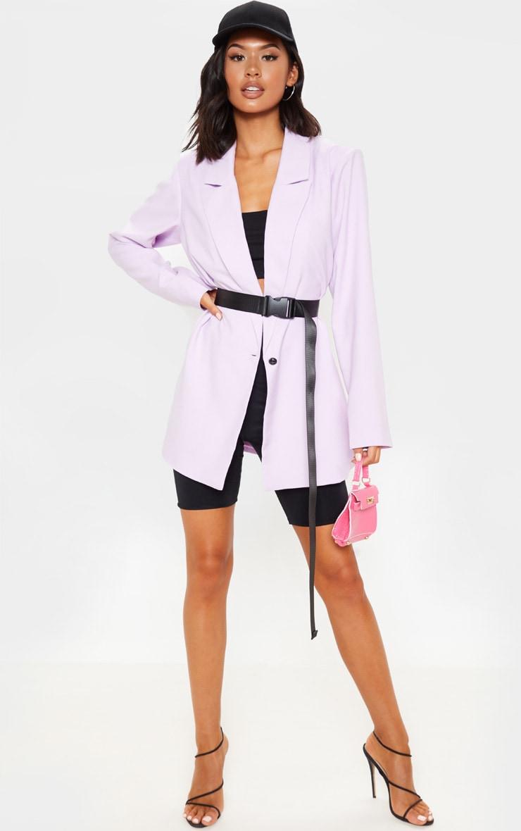 Lilac Super Oversized Woven Blazer    4