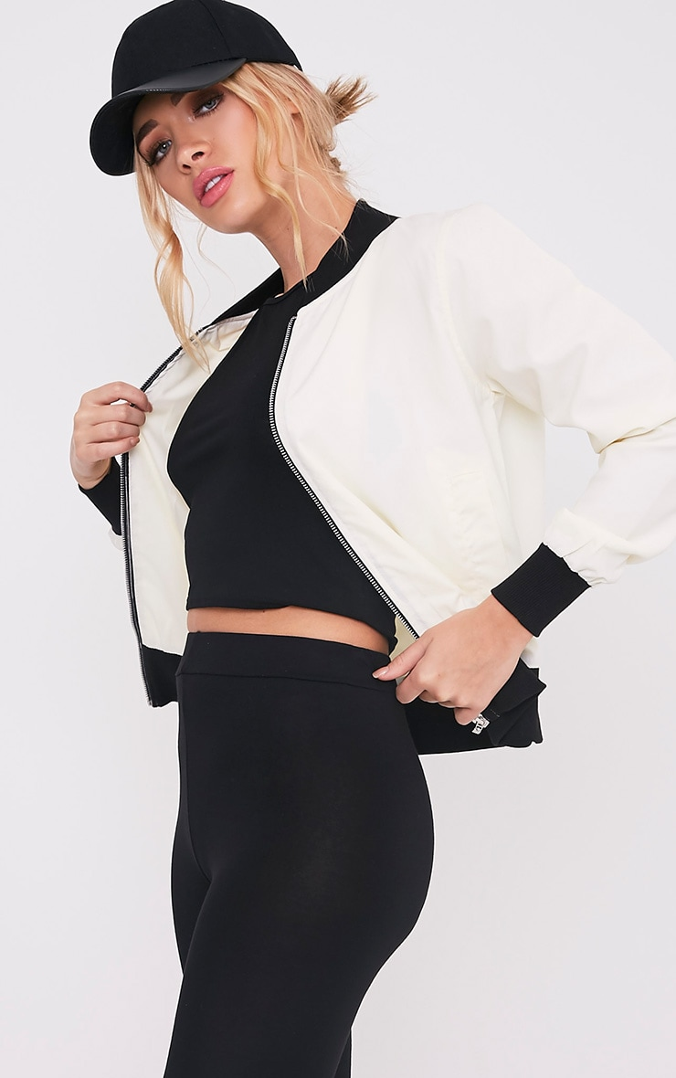 Salali Cream Bomber Jacket 1