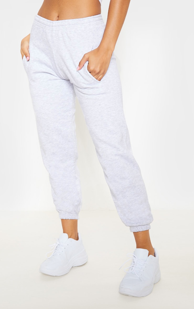 Grey Marl Casual Joggers 2