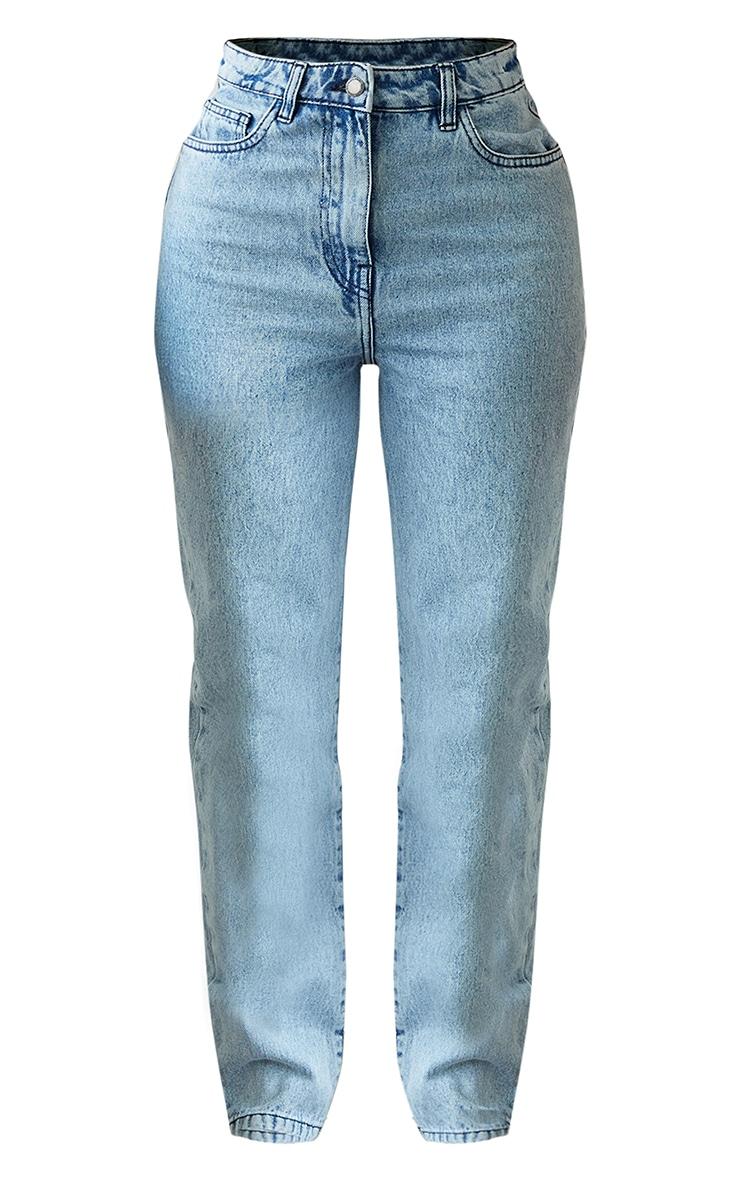 Shape Vintage Wash Lace Up Detail Straight Leg Jeans 5
