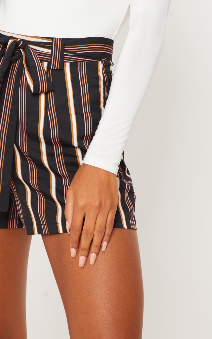 Rust Stripe Tie Waist Short 6
