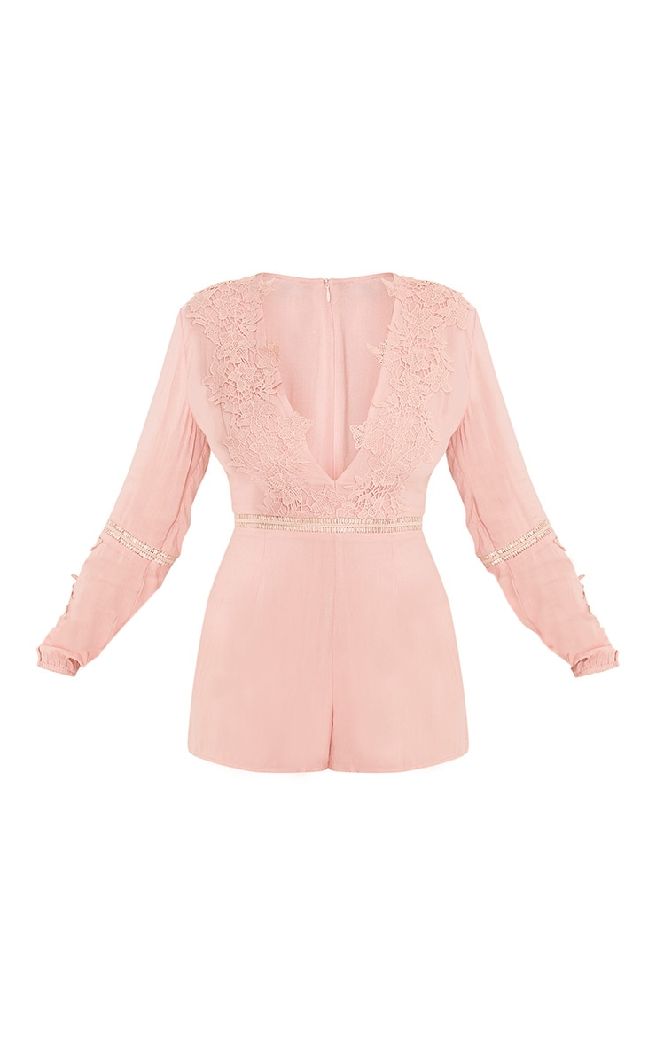 Lauren Pink Cheesecloth Playsuit 3