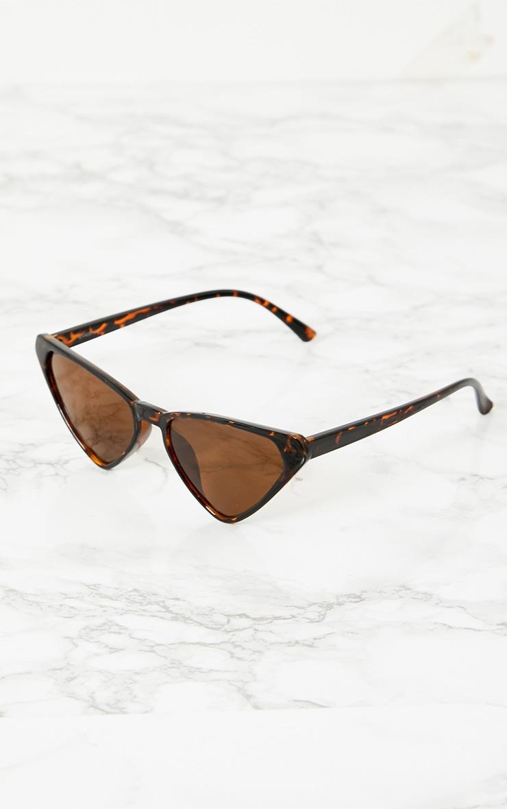 Tortoise Shell Wide Triangle Sunglasses 2