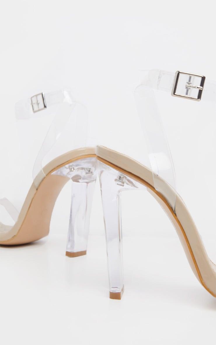 Nude Flat Heel Clear Strap Sandal 4