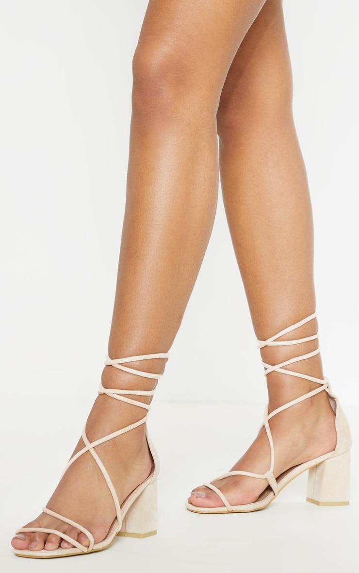 Nude Block Heel Sandal 2