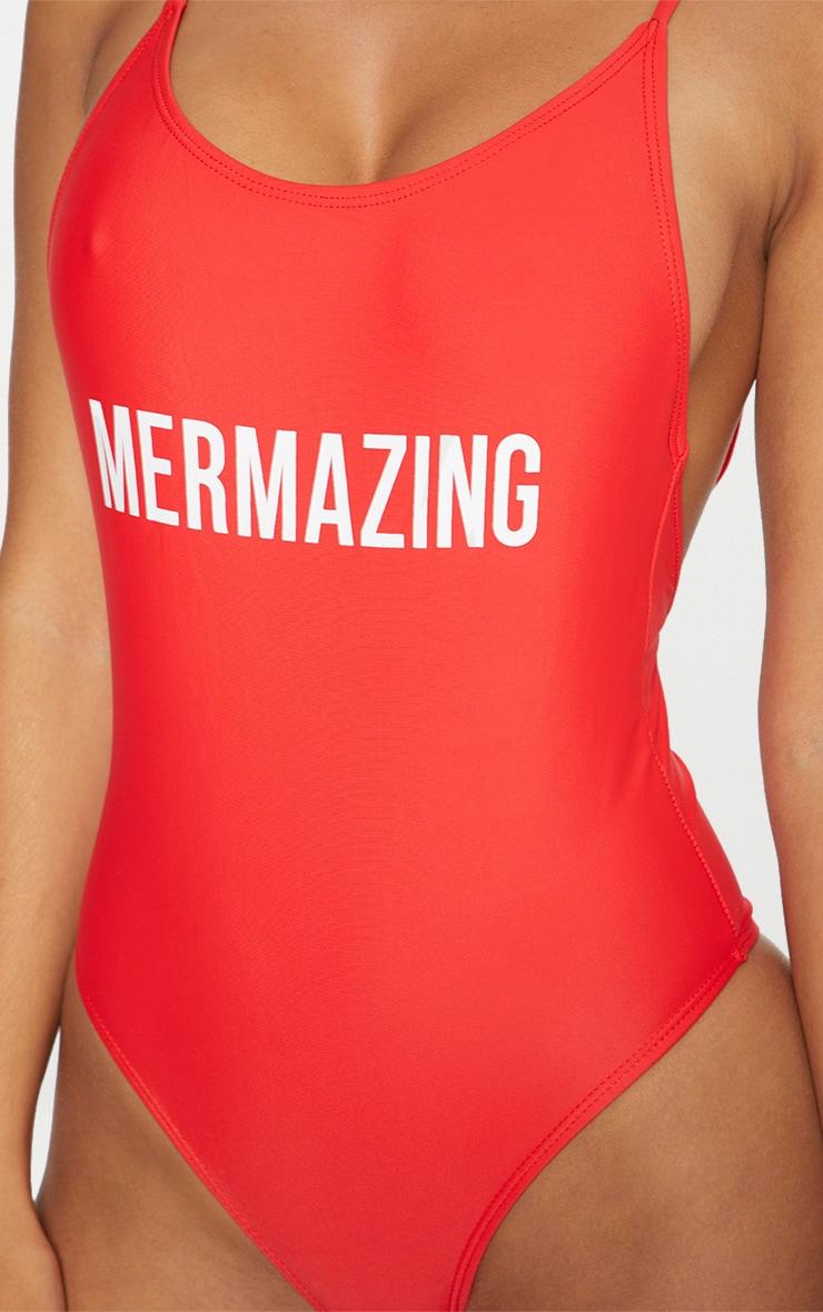 Red Mermazing Swimsuit 4