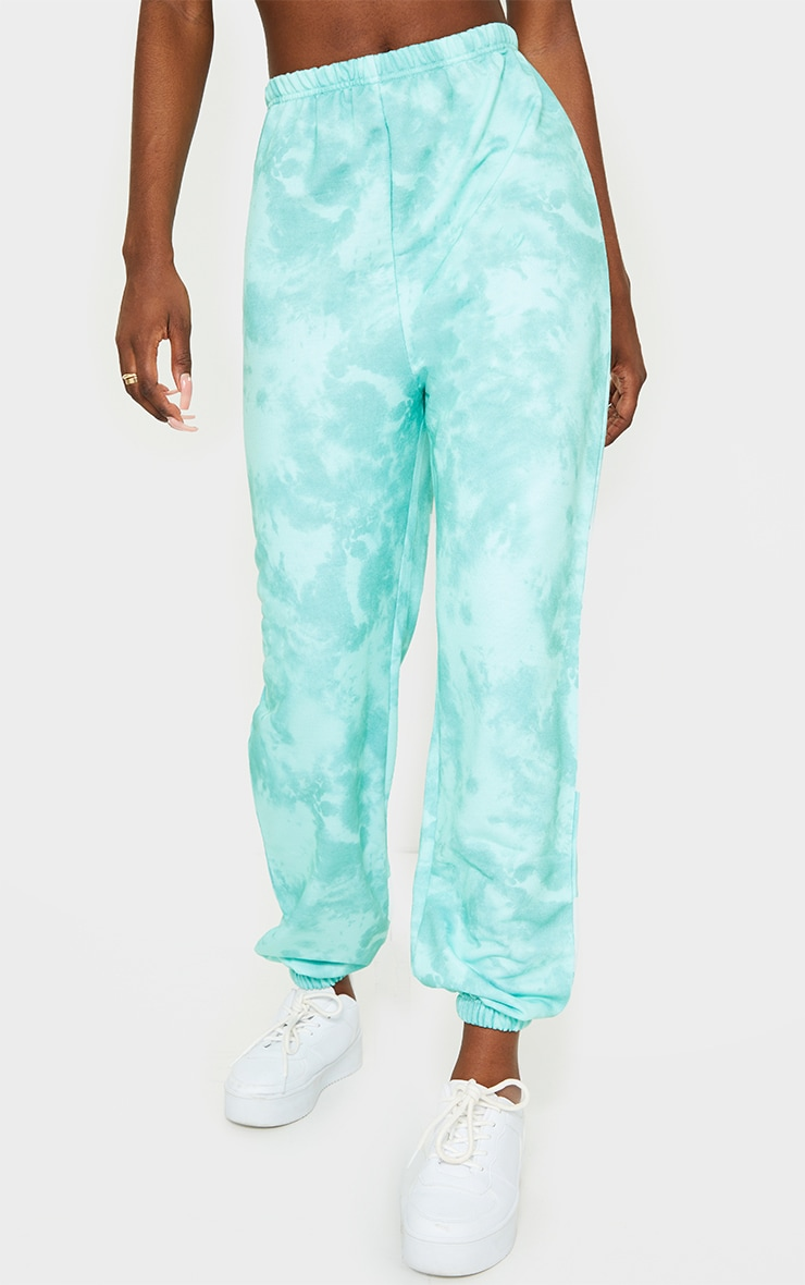 Tall Sage Green Tie Dye Basic Jogger 2
