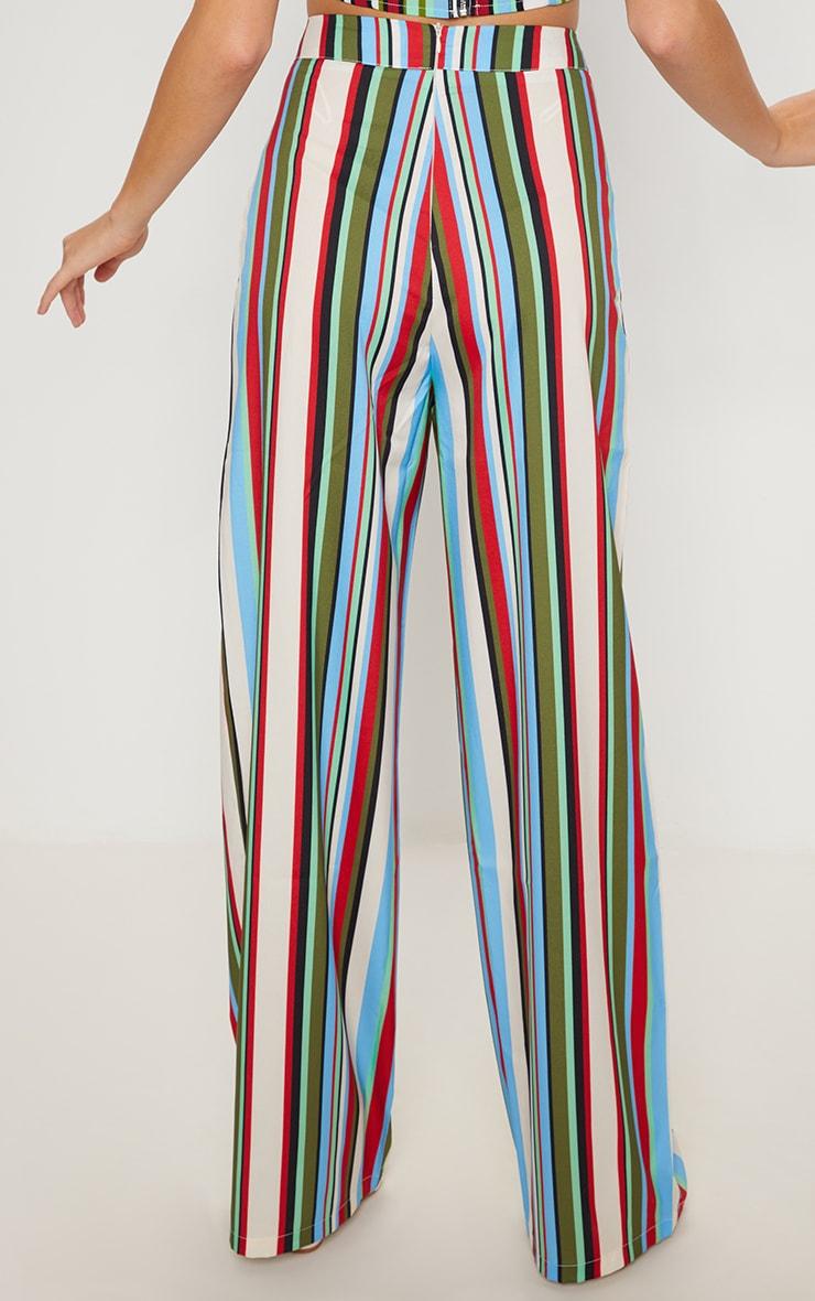 Multi Stripe Wide Leg Trouser 4