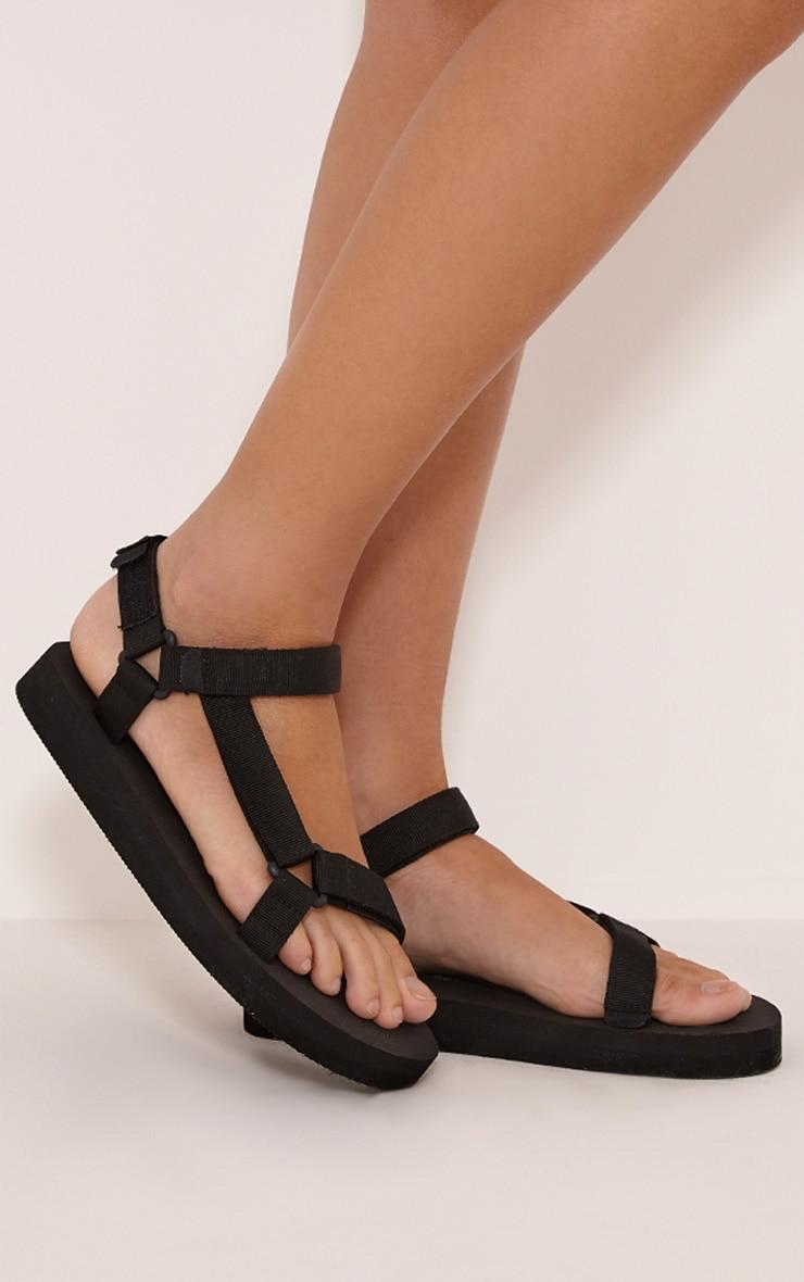 Nina Black Harness Strap Sliders 2