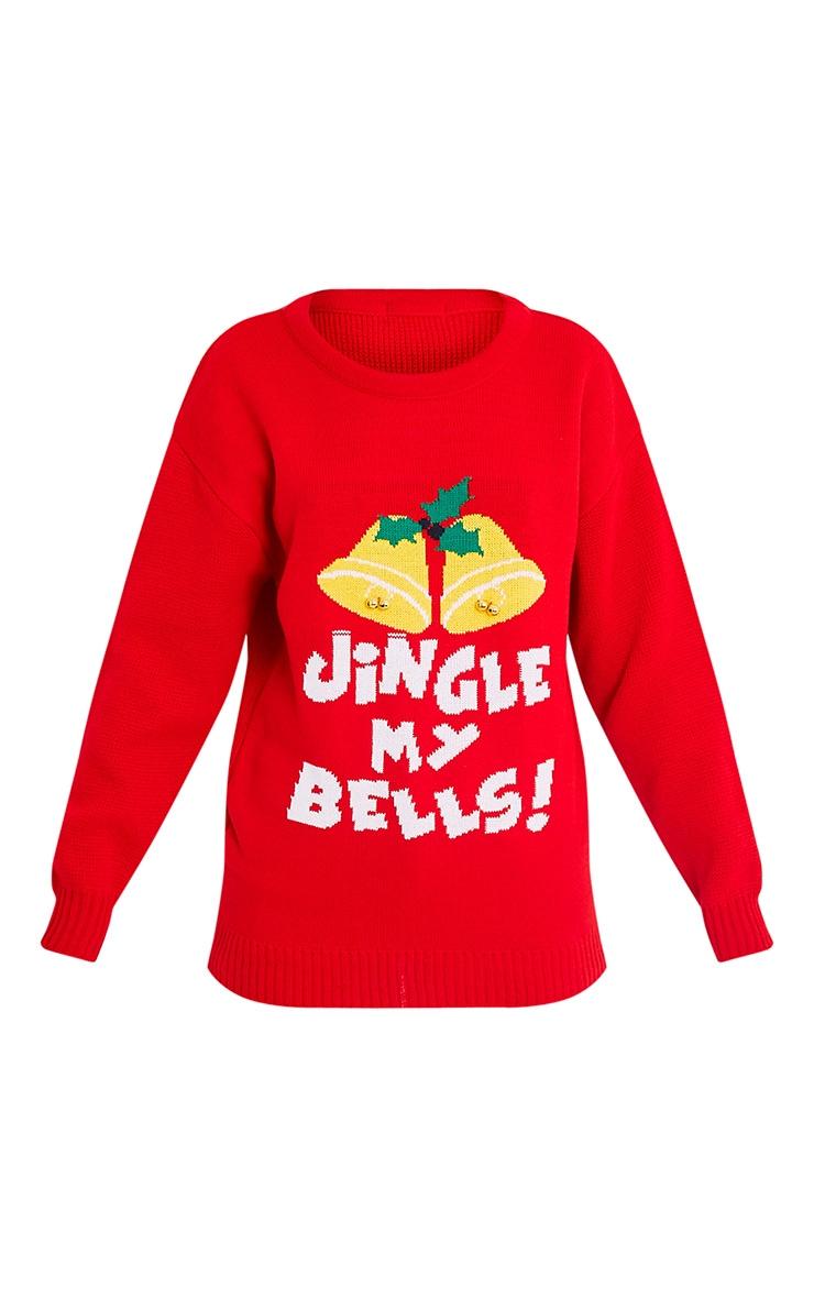 Jingle My Bells Red Christmas Jumper 3
