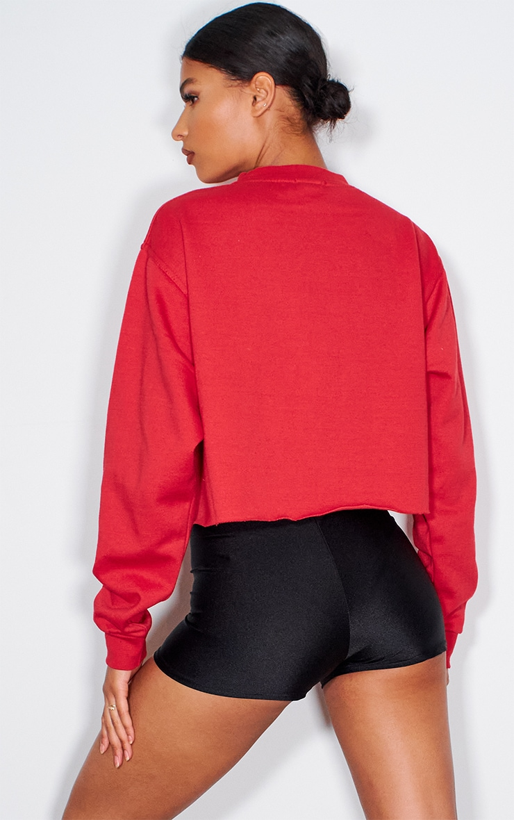 PRETTYLITTLETHING Red Sport Cropped Sweater 2
