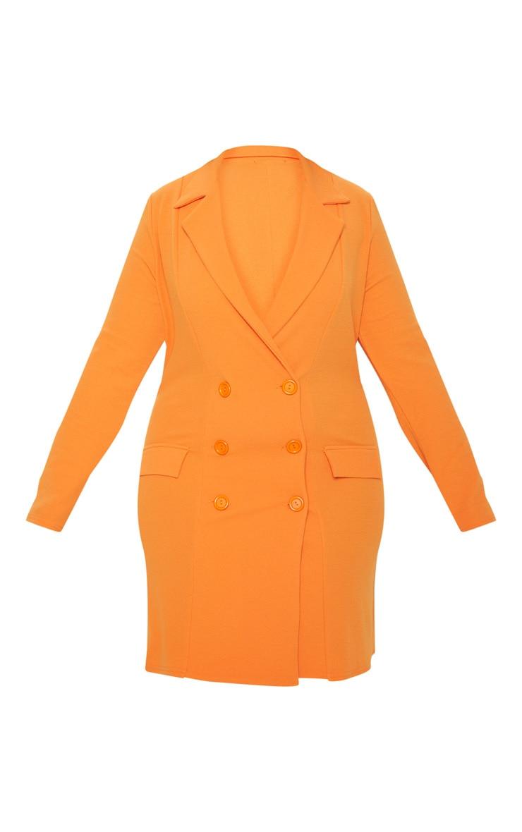 Plus Orange Button Detail Blazer Dress 3