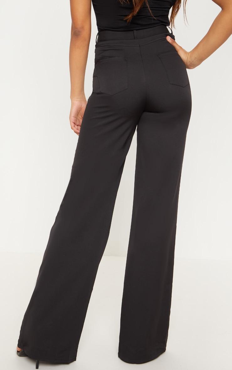 Tall Black Pocket Detail Wide Leg Pants 4