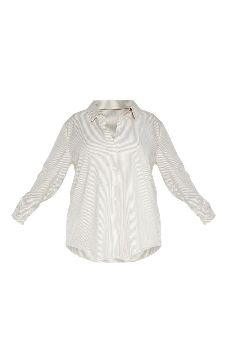 Plus Stone Striped Oversized Shirt 3