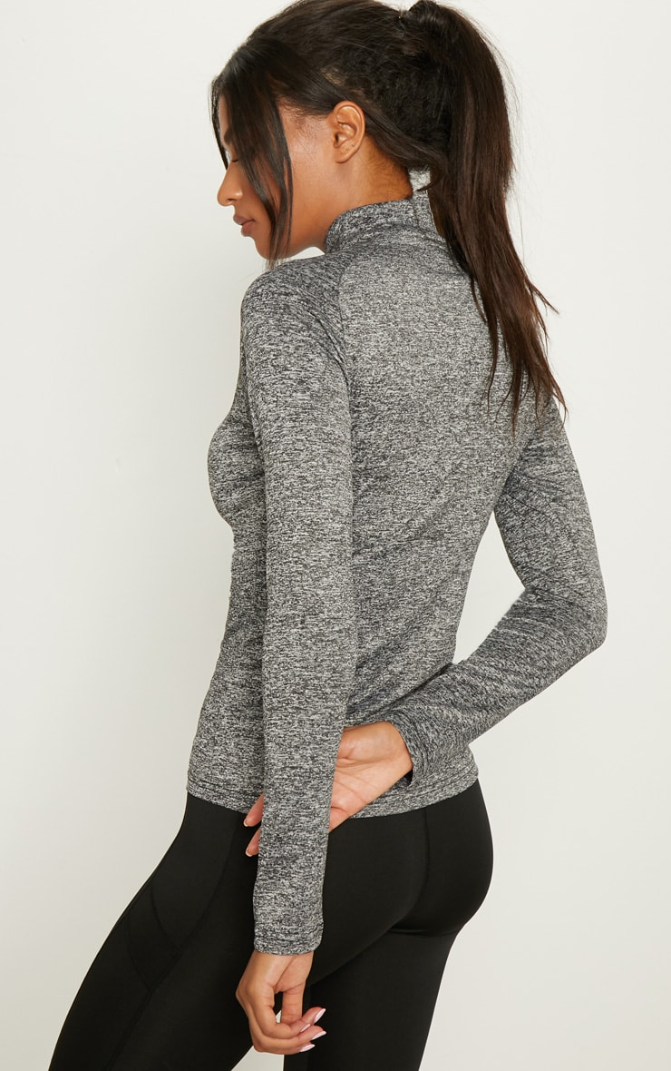 Black Speckle Zip Through Jacket 2