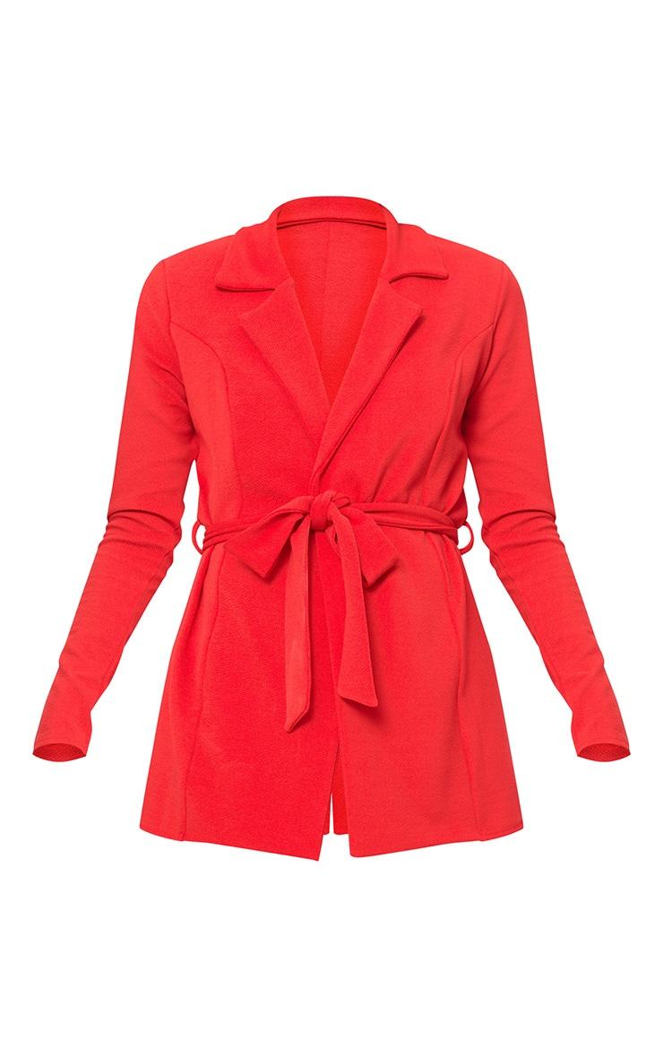Red Belted Blazer  3