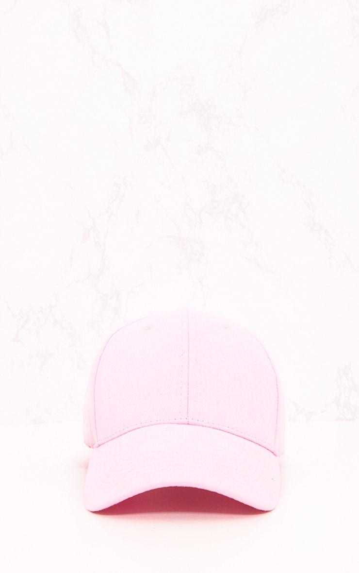 Pink Woven Baseball Cap 3