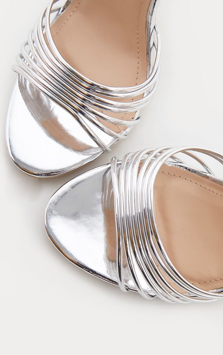 Silver Strappy Toe Metallic Sandal 4