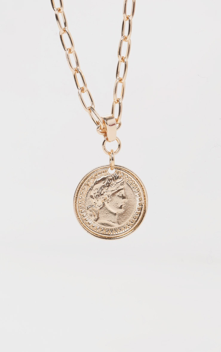Gold Coin Pendant Necklace 3