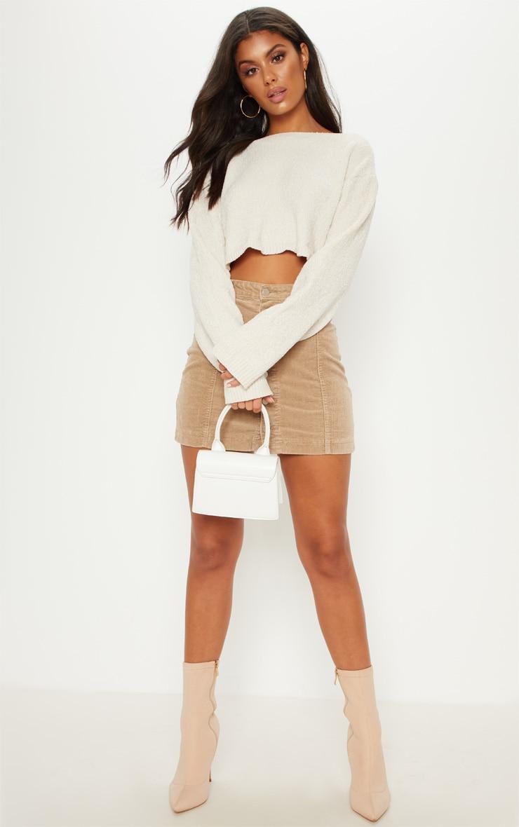 Stone Cord Cammie Button Through Skirt 5