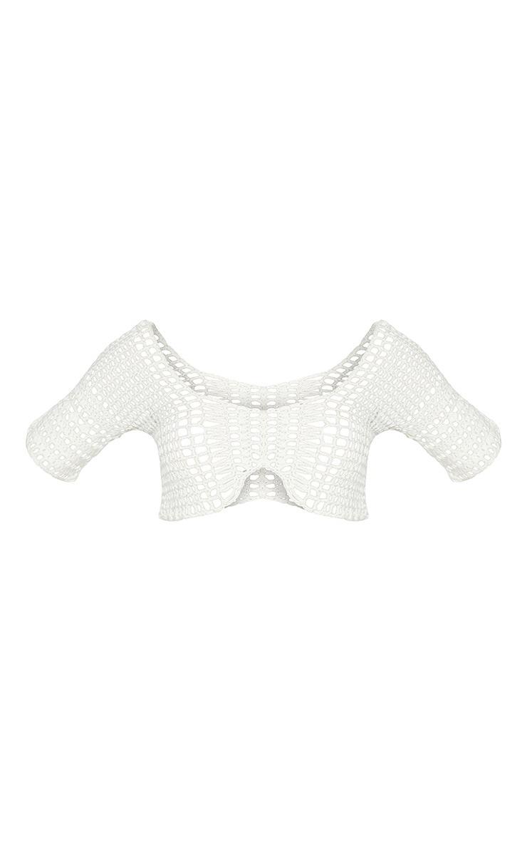White Crochet Crop Top 5
