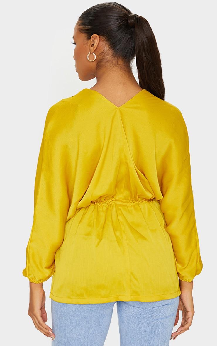 Golden Yellow Kimono Top 2