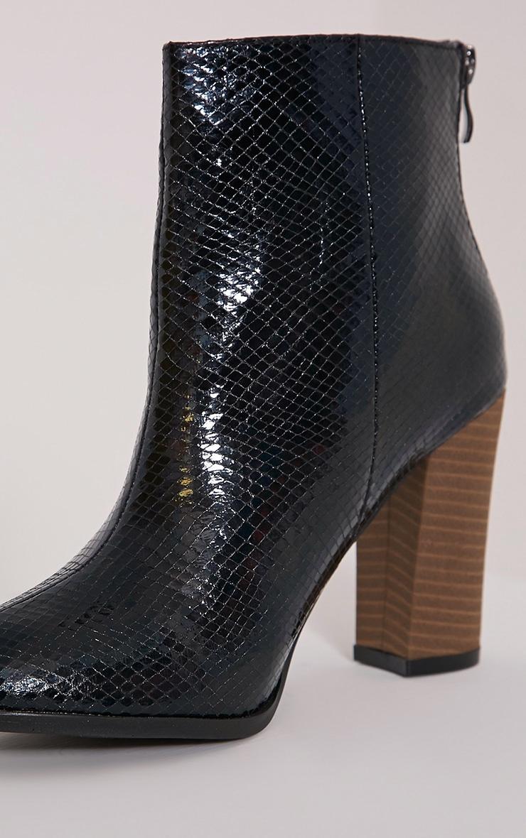 Becci Black Snakeprint Ankle Boots 5