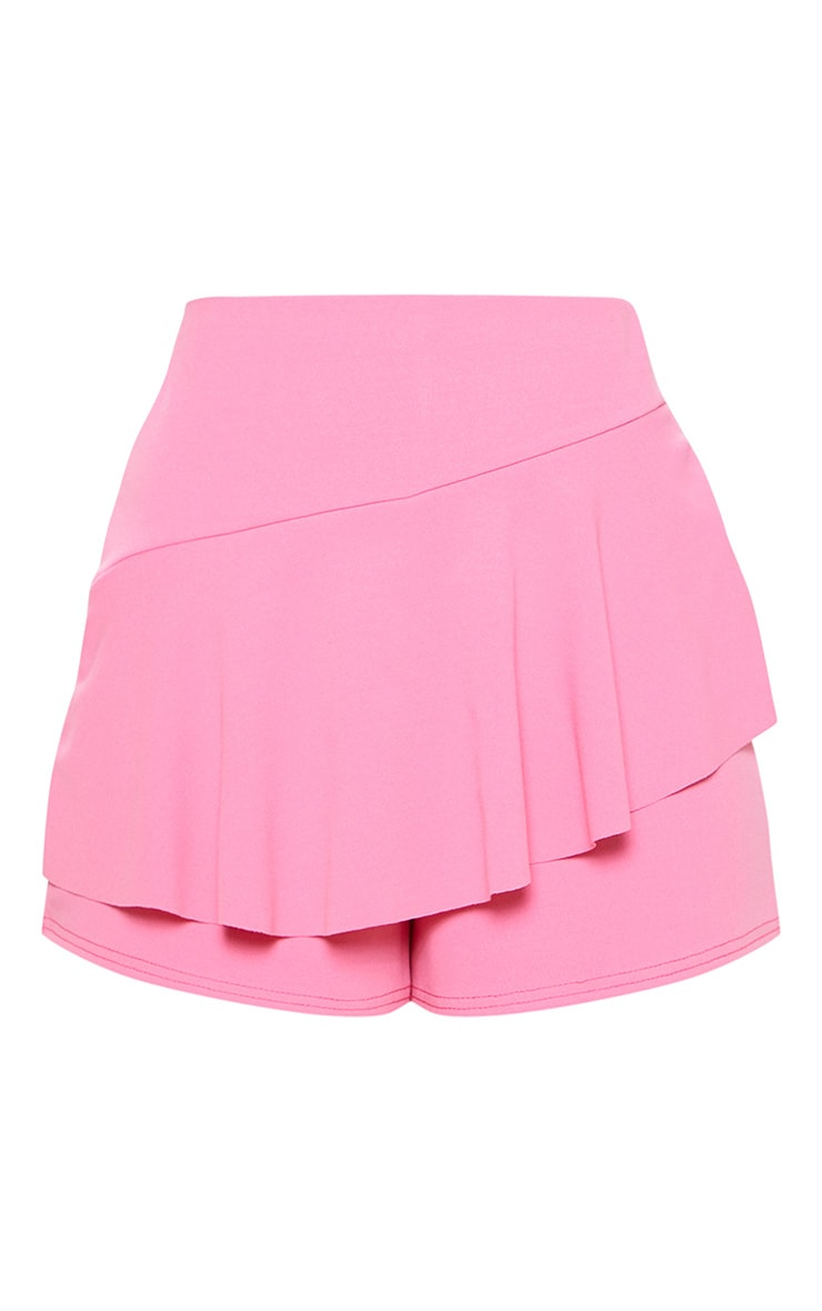 Candy Pink Frill Front Skort 3