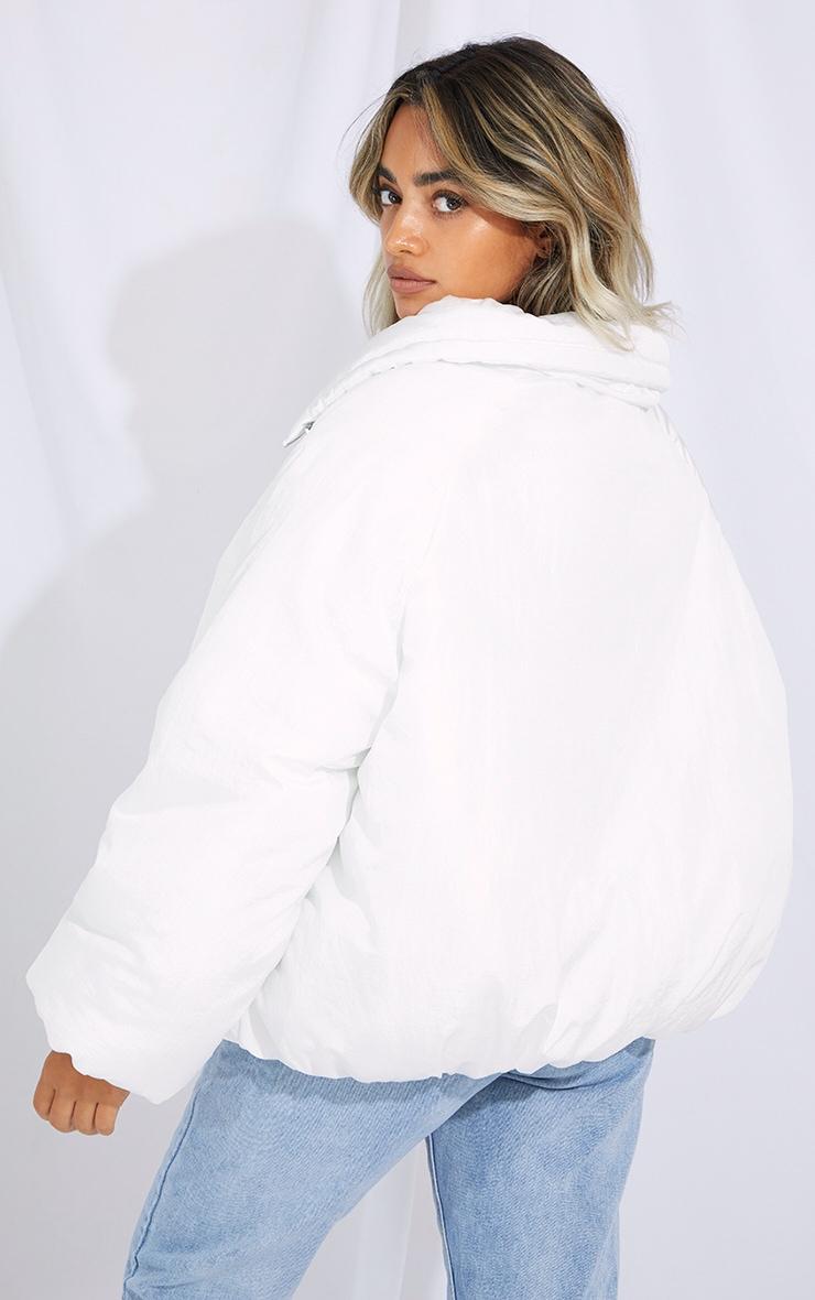 Petite White Extreme Oversized Puffer Jacket 2