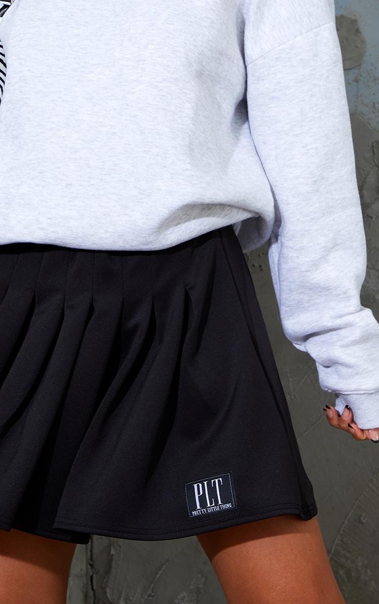 PRETTYLITTLETHING Black Badge Pleated Skater Skirt 5
