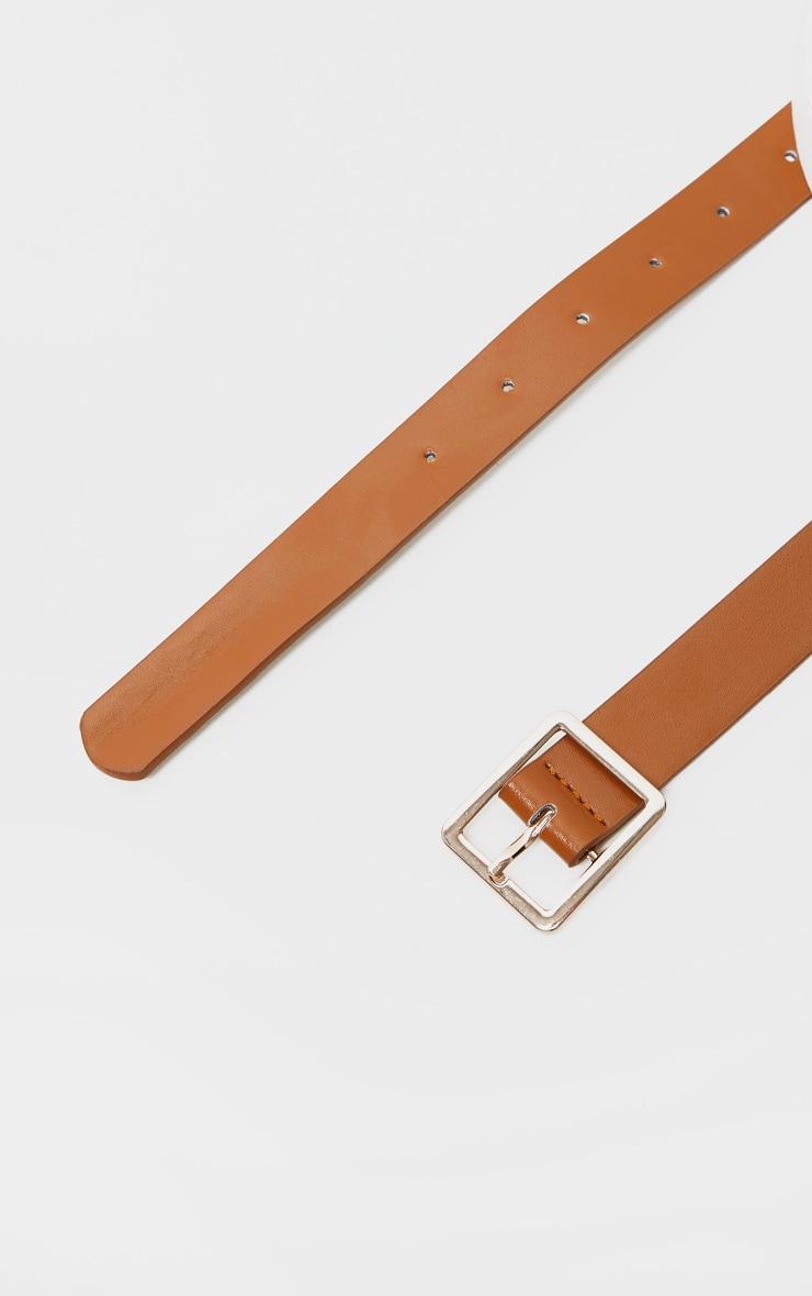 Tan PU Door Knocker Trim Multiwear Belt Bag 3