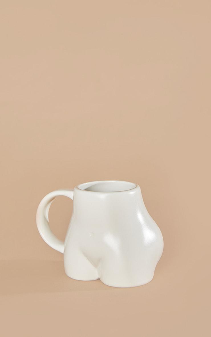 White Ceramic Booty Mug 3