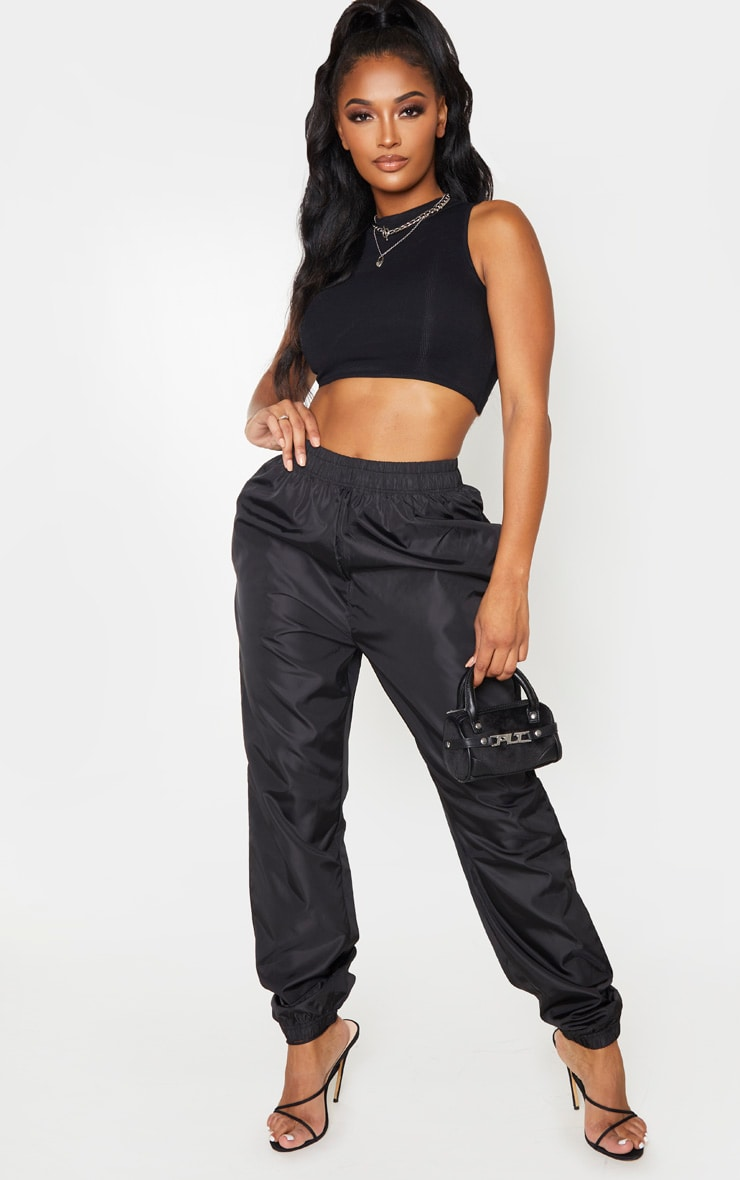 Shape Black High Waist Shell Jogger 1