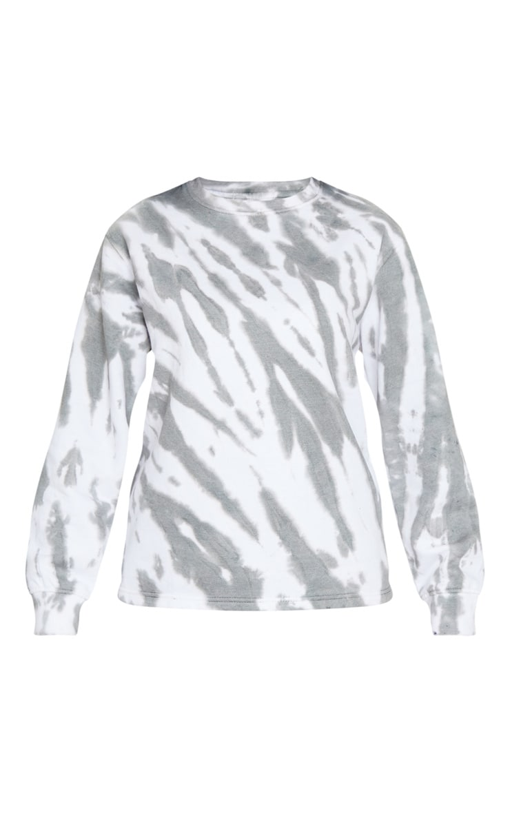 Grey Oversized Tie Dye Sweater 5
