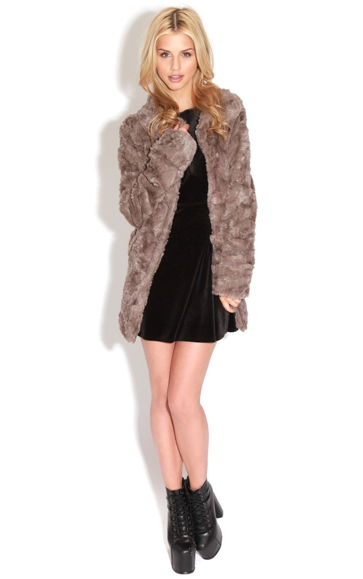 Rani Mocha Faux Fur Coat 3