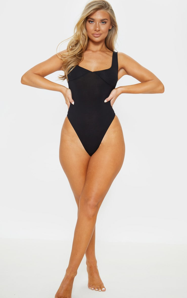 Black Cupped Jersey Body 5