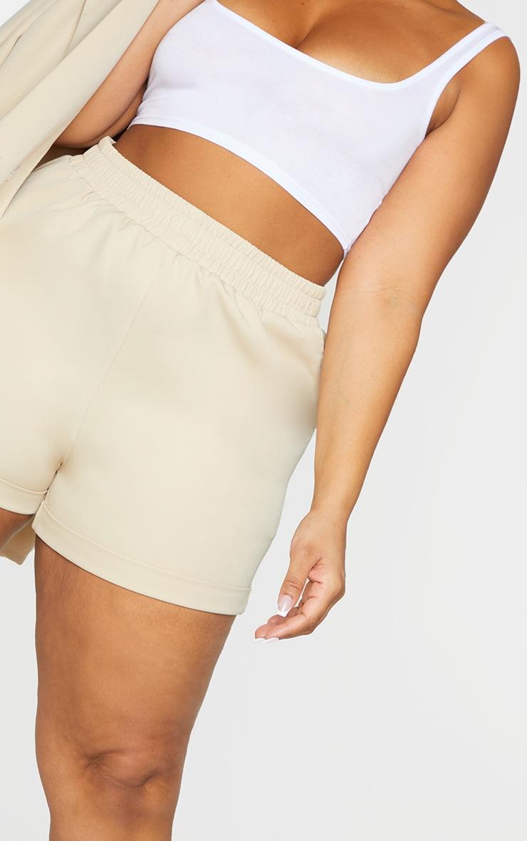 Plus Stone Ruched Waist Suit Shorts 5