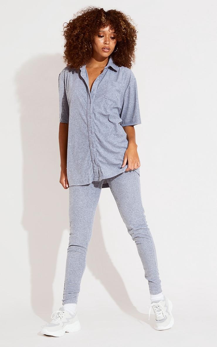 Grey Towelling Shirt 3
