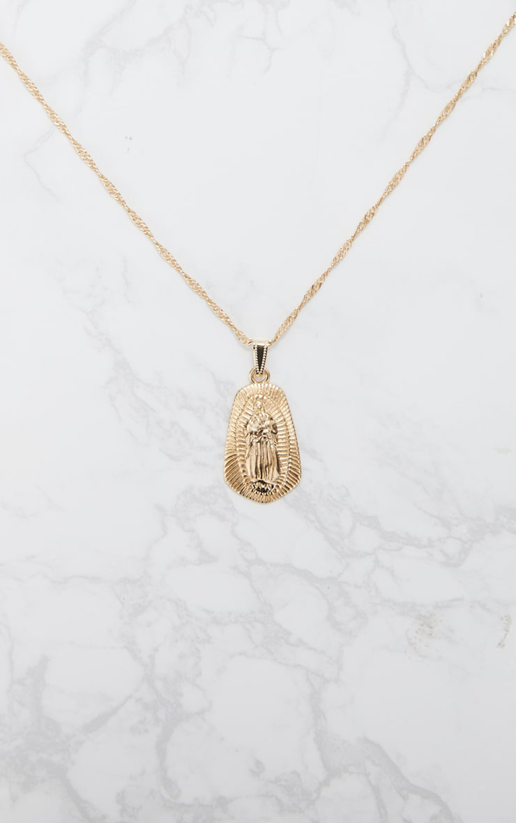 Gold Pendant Drop Necklace