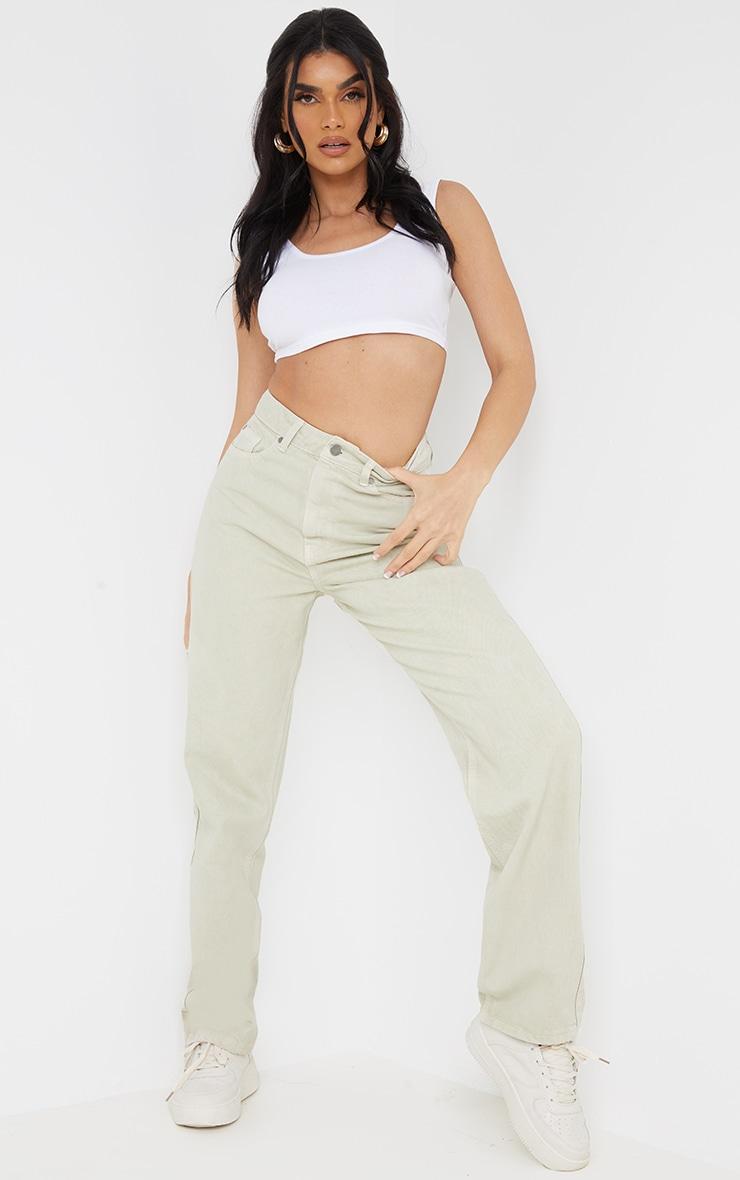 Stone Long Leg Straight Jeans 1