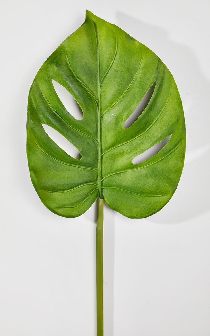 Green Artificial Single Monstera Leaf 4