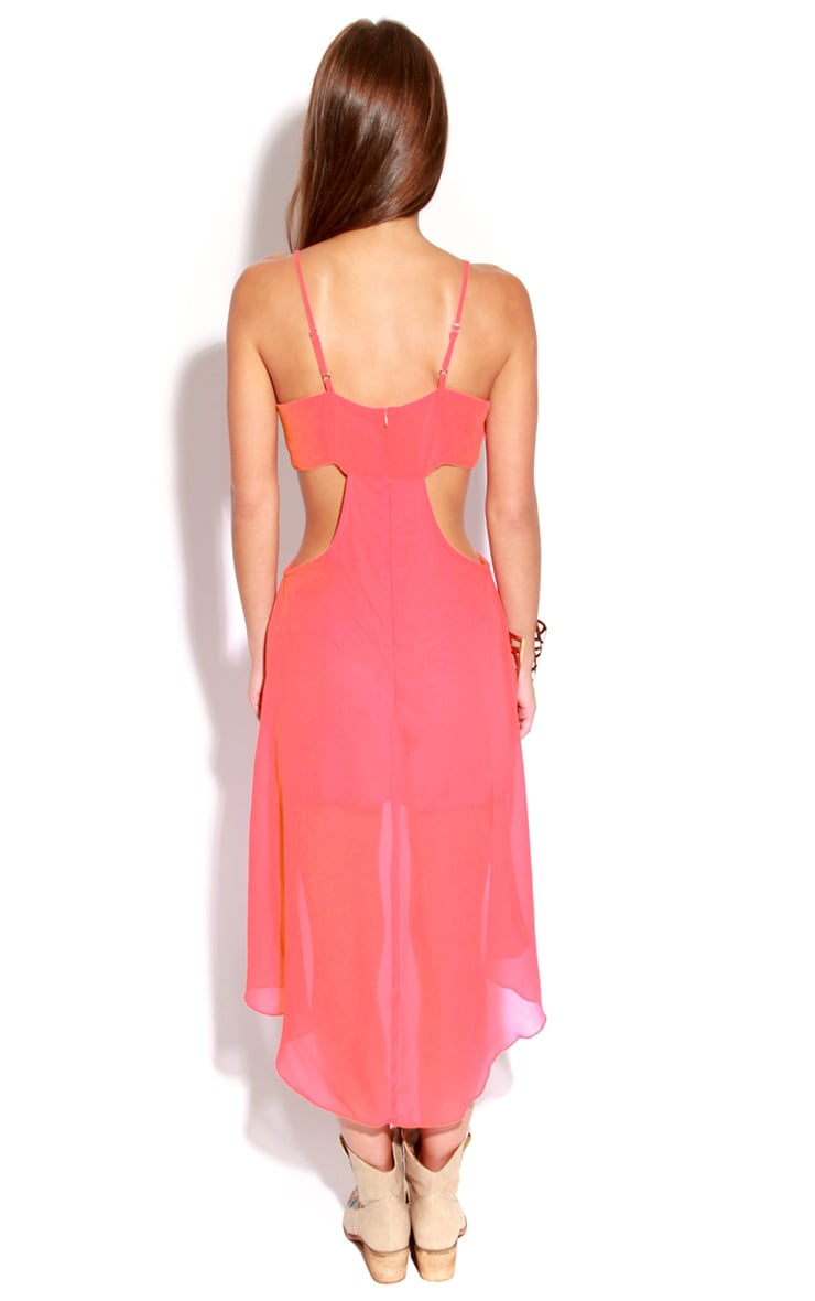 Dee Pink Cut-Out Strappy Dress 2