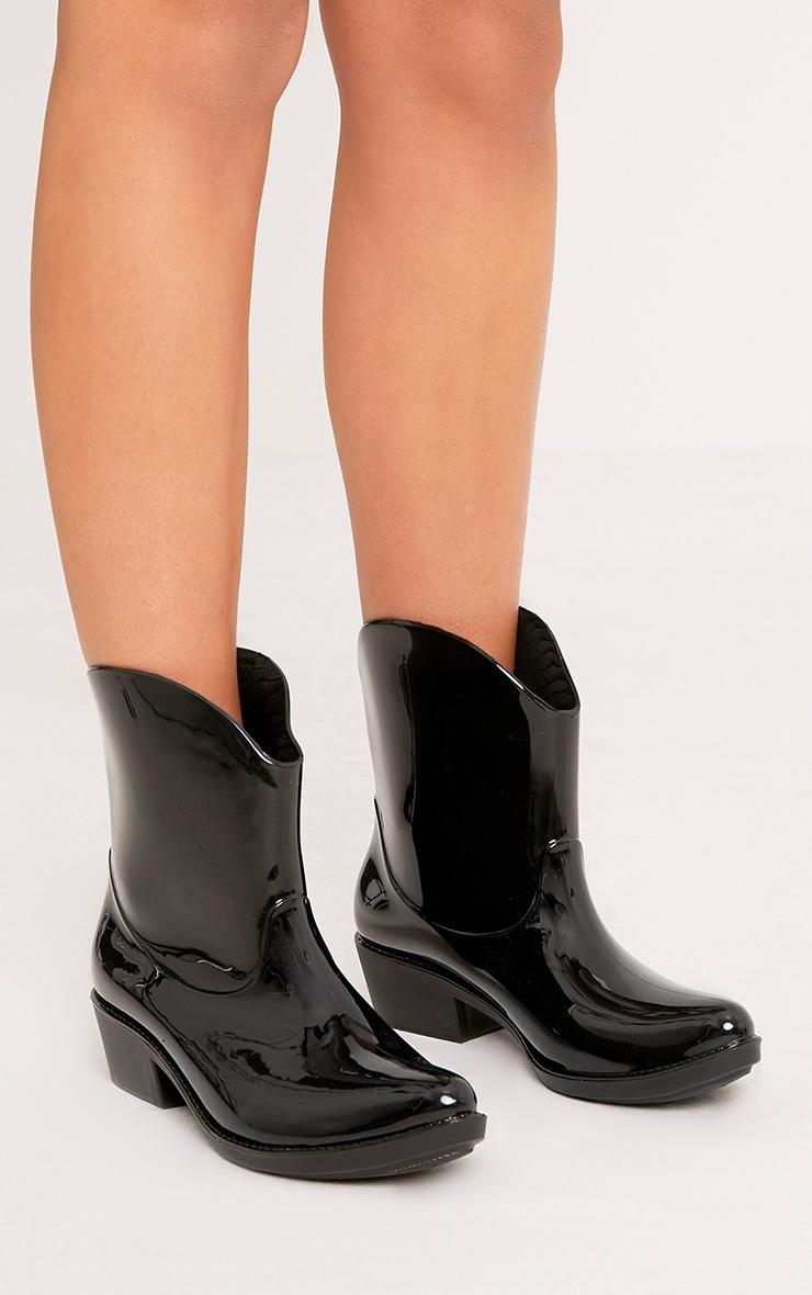 Kendrea Black Cowboy Rain Boots 1