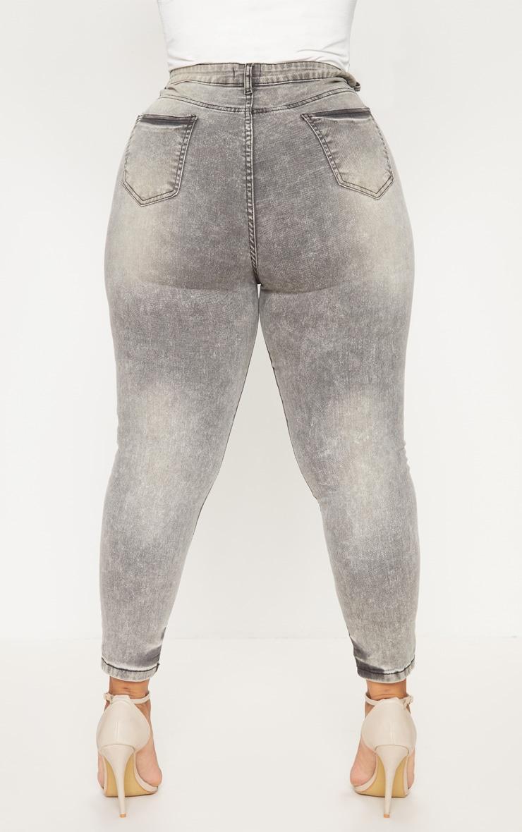 Plus Grey Skinny Jeans 4