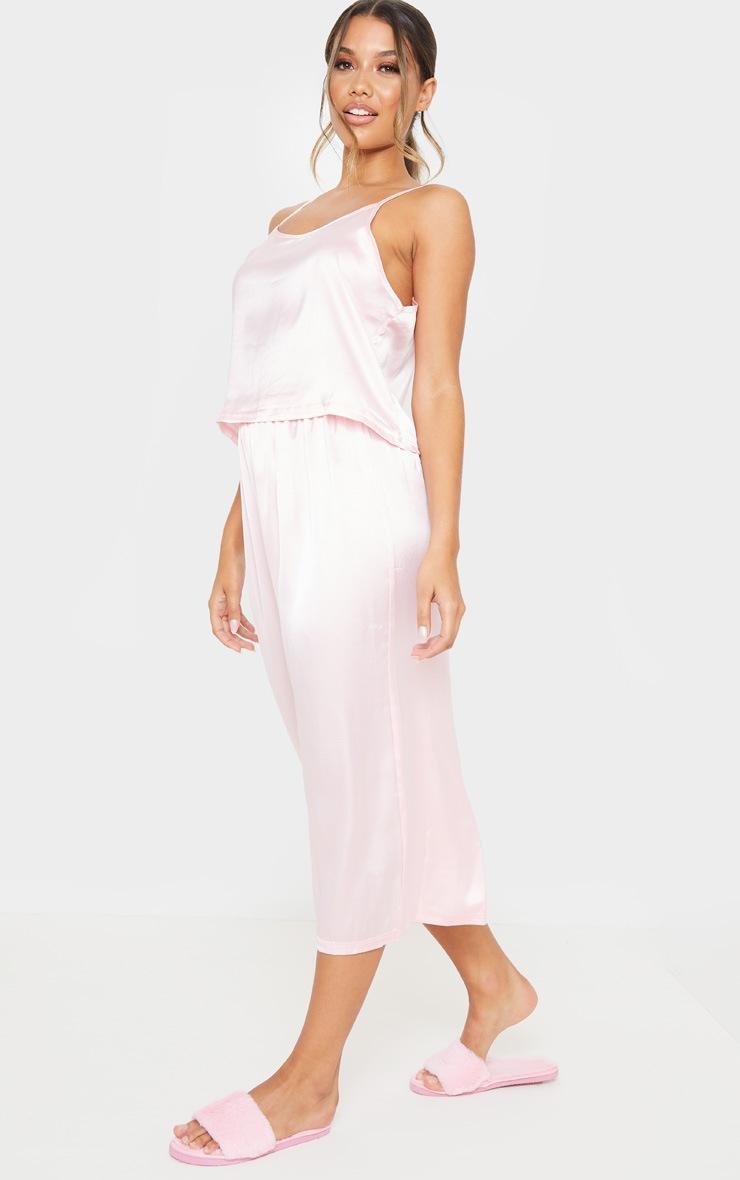 Light Pink Culotte And Cami PJ Set 4