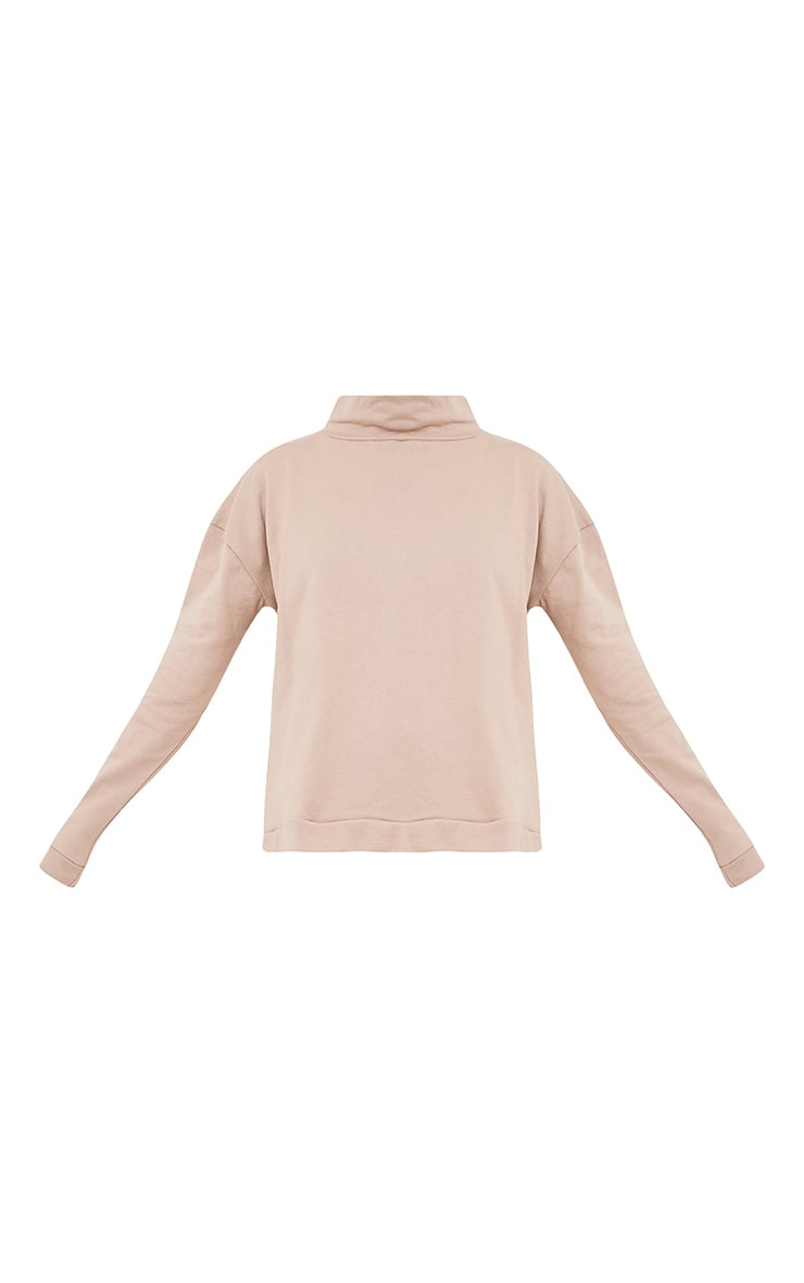 Ema Taupe Turtle Neck Oversized Sweater 3