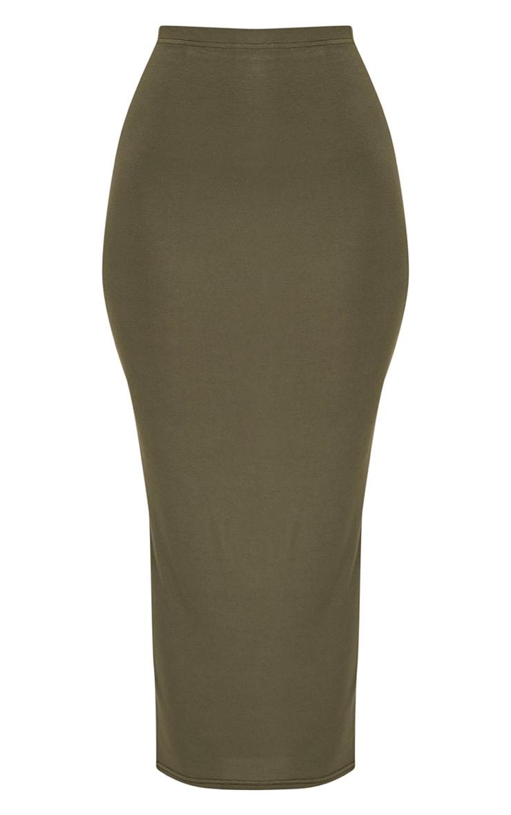 Basic Khaki Midaxi Skirt 3