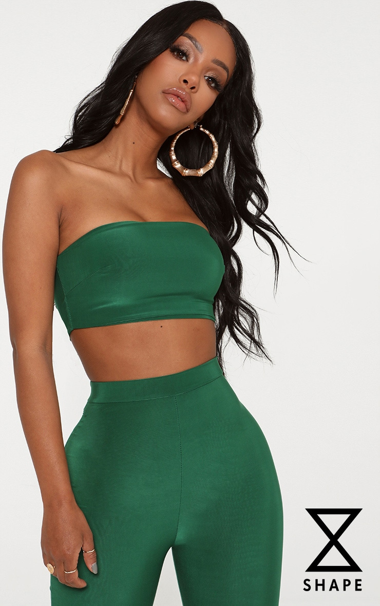 Shape Bright Green Slinky Bandeau Top